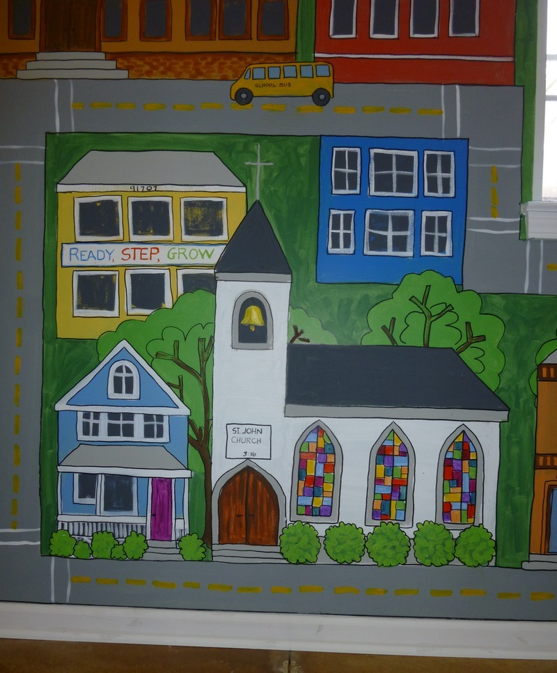 Little Town Murals for Ready, Step, Grow
