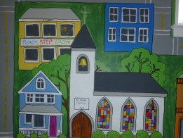 little town murals by Ellen Leigh