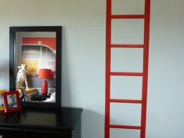 Firehouse ladder mural by Ellen Leigh