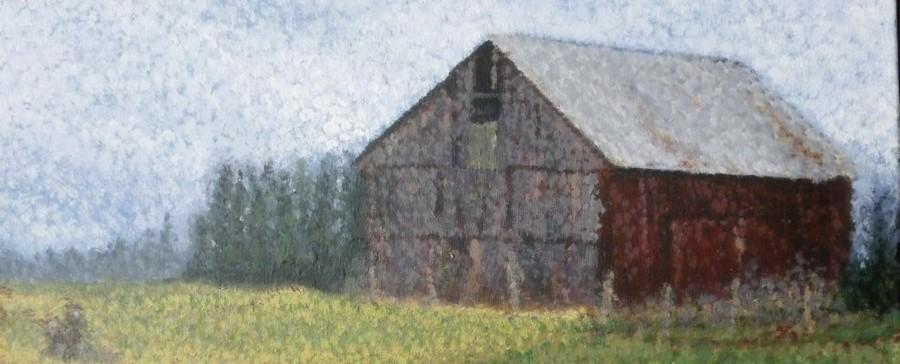 """Barn"" one of Ellen Leigh's fine art barn paintings."