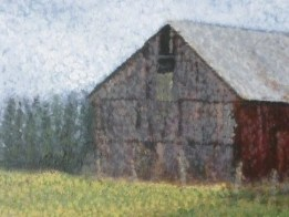"""Barn"" one of Ellen Leigh's fine art barn paintings."