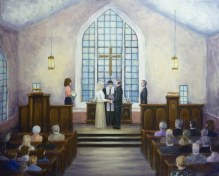 The Ceremony 24 x 30 fine artwork painting by Ellen Leigh artist's gallery.