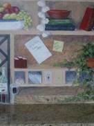 Detail of Kitchen Shelves mural by Ellen Leigh