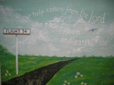 Sunday School hall mural. Mural by Ellen Leigh