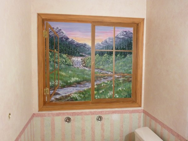 Window Scene Wall Murals