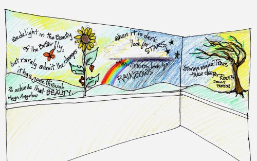 Giving Hope for the Future ~ mural for a shelter