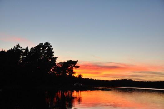 Solnedgång i Lådna