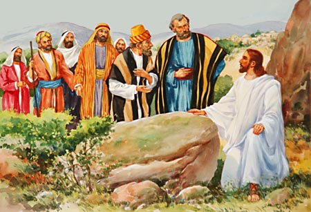 Resultado de imagem para imagem de jesus falando em parábolas para os discipulos - site católico
