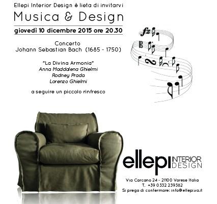 Musica&Design - 10 Dicembre 2015 - Invito