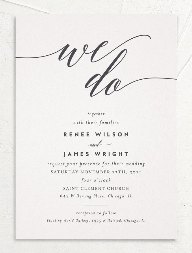 We Do Wedding Invitations Elli