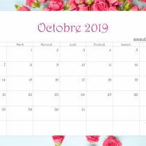 Calendrier Ellia Rose Fleurs et bois 2019 Octobre
