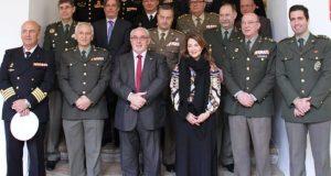 Autoridades militares asistentes a las Jornadas