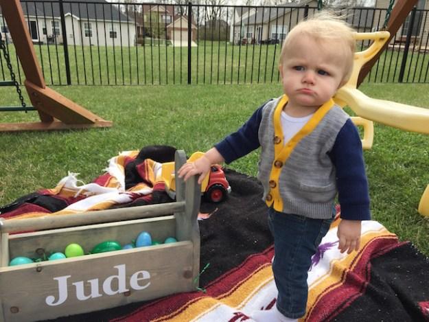 Jude is unimpressed.