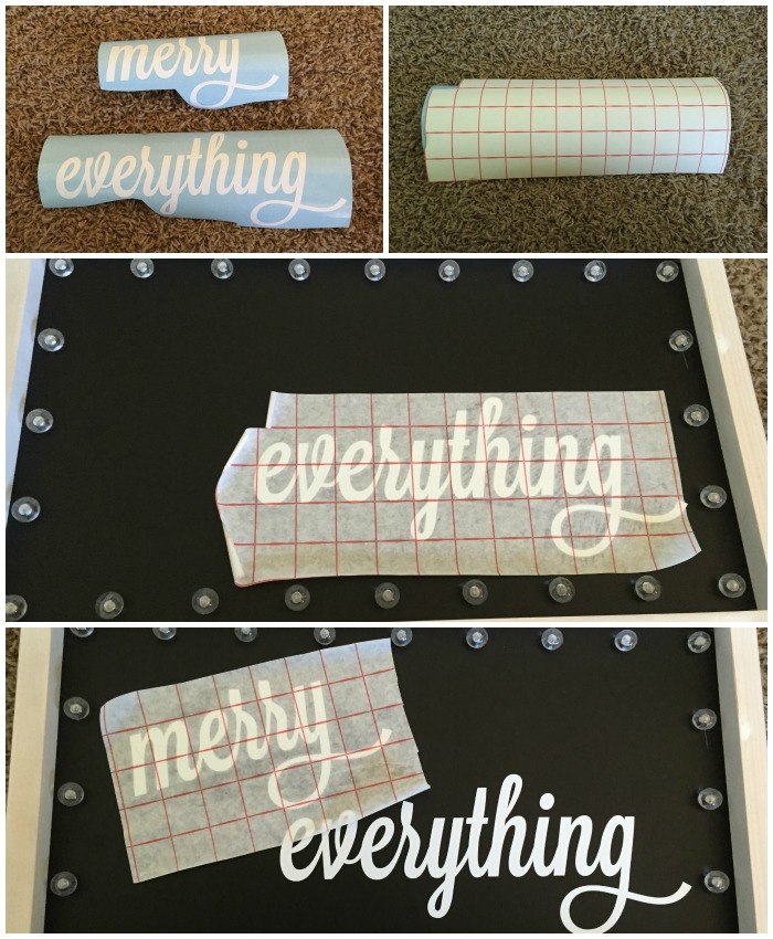 Marquee With Vinyl DIY | Ellie And Addie