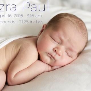 Welcome Baby Ezra