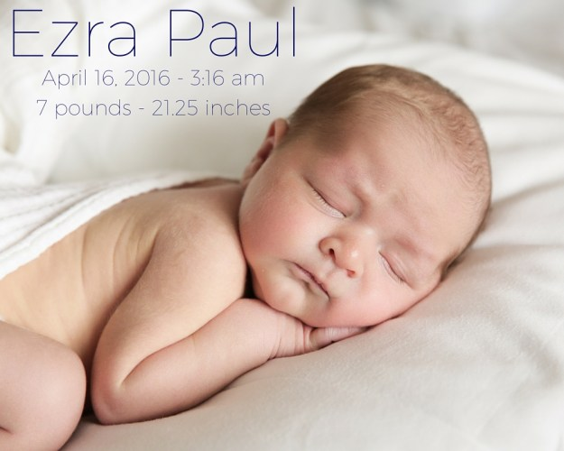 Welcome Baby Ezra | Ellie And Addie