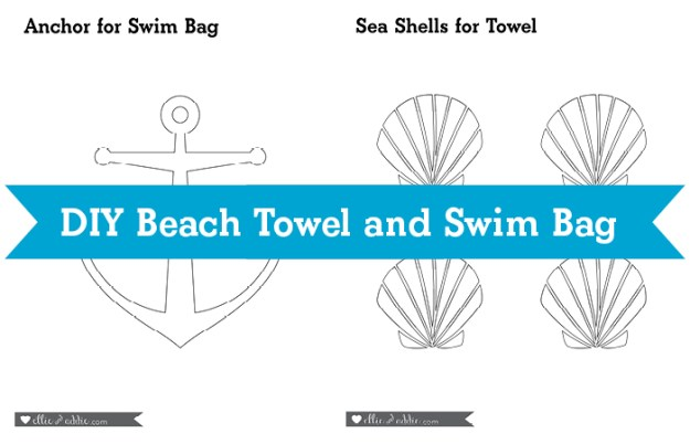 DIY Beach Towel and Swim Bag with Huggies® Little Swimmers® #SwimAdventureContest #CB #ad   Ellie And Addie