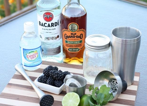Blackberry Cocktails Two Ways   Ellie And Addie