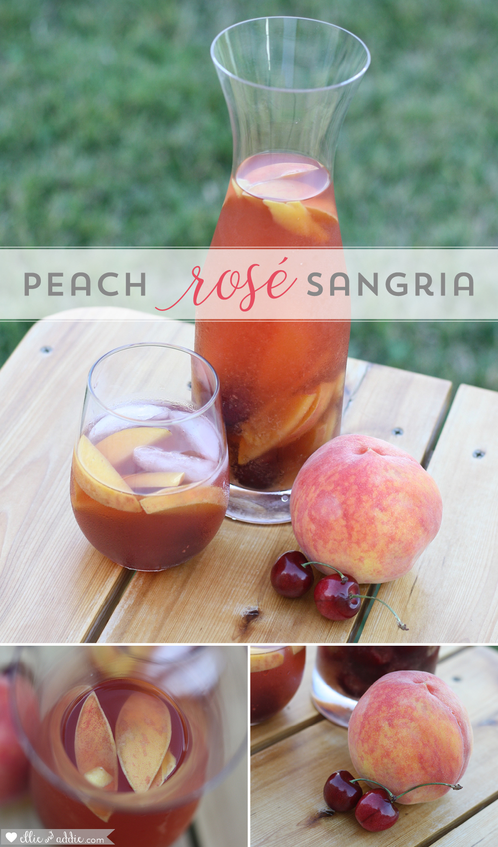 Peach Rosé Sangria Recipe | Ellie And Addie