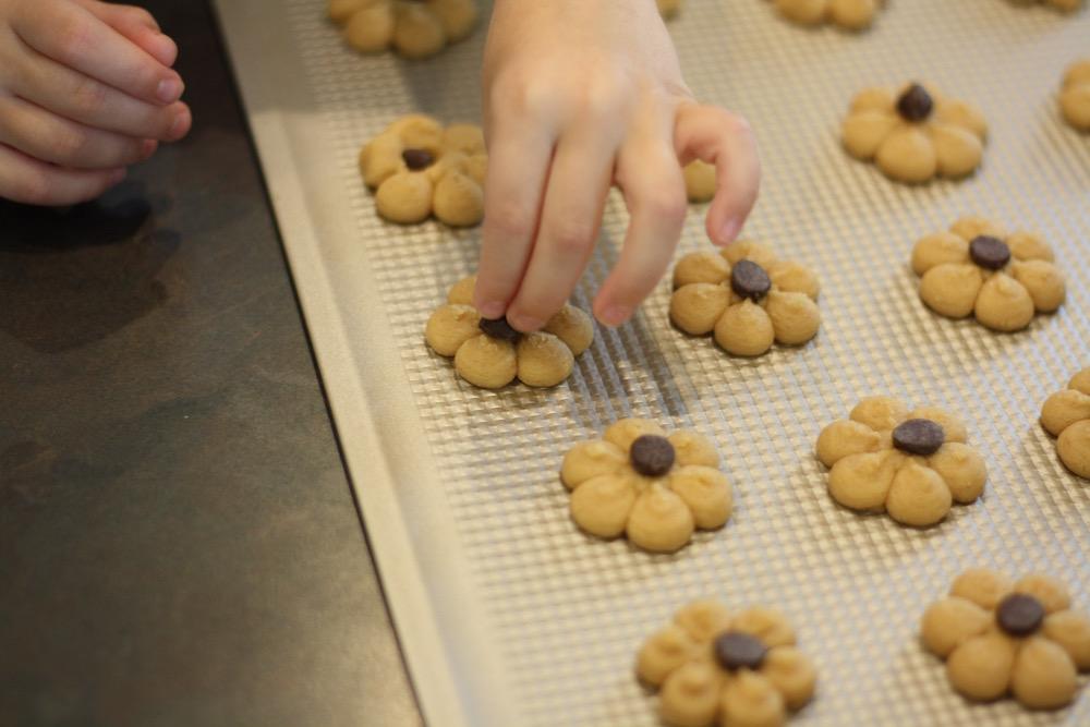 Peanut Butter Spritz Cookie Recipe | Ellie And Addie