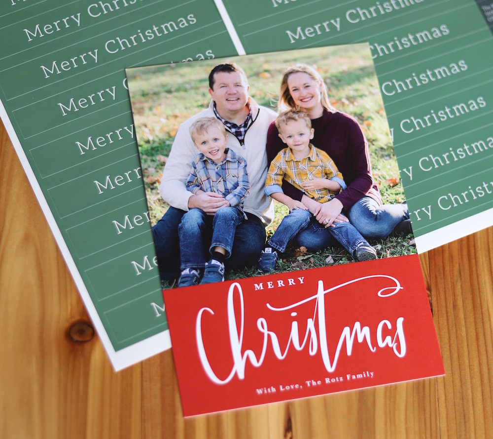 Our Family Christmas Cards with Mpix | Ellie And Addie Christmas Cards 2018 | St. Louis family and lifestyle blogger Liz of Ellie And Addie