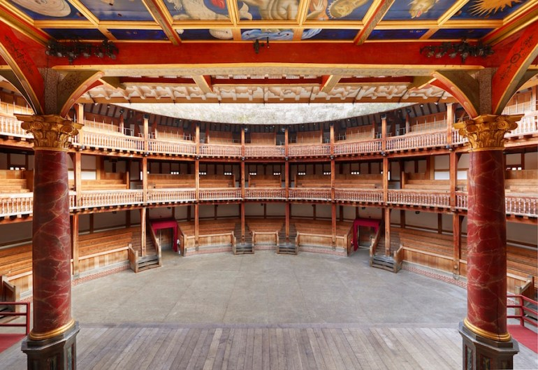 Actors View Shakespeares Globe peter dazeley