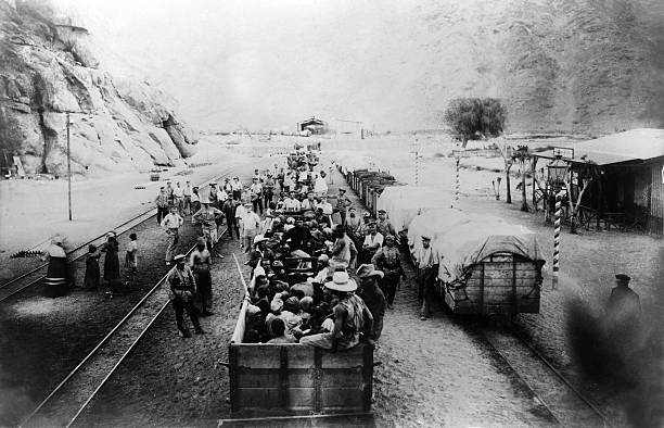 Herero people being taken to a concentration camp
