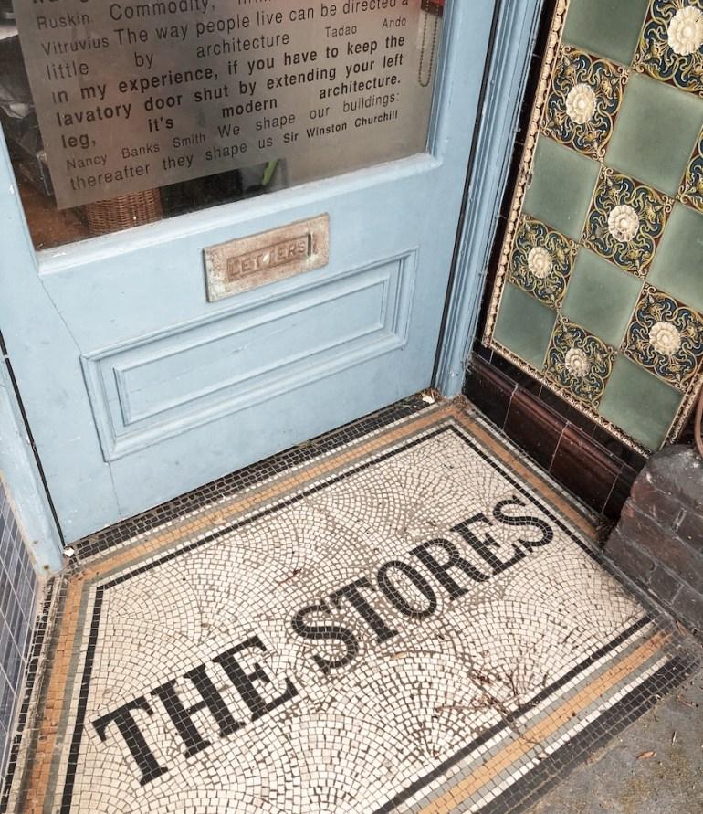 shopfront entrance floor mosaic hove station