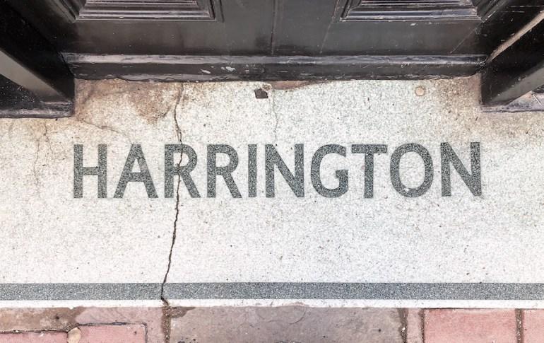 harrington hotel brighton old shopfront floor entrance mosaic