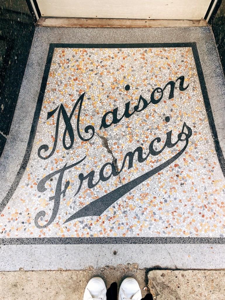 maison francis vintage shopfront entrance mosaic hove