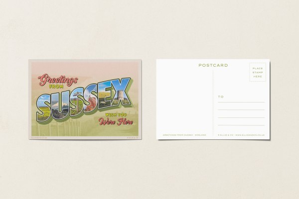 sussex postcard