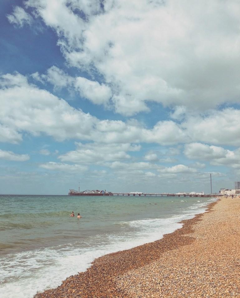kemp town beach view of palace pier