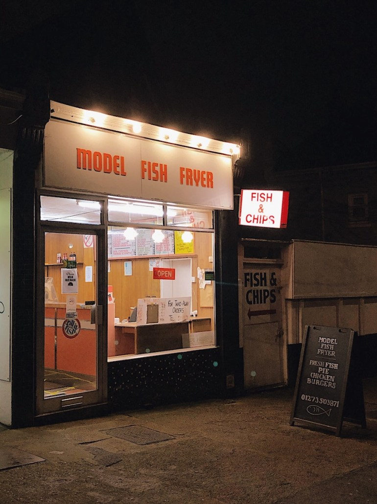 shopfront at night