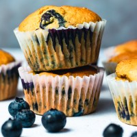 Vegan Blueberry Muffins (Oil-Free)