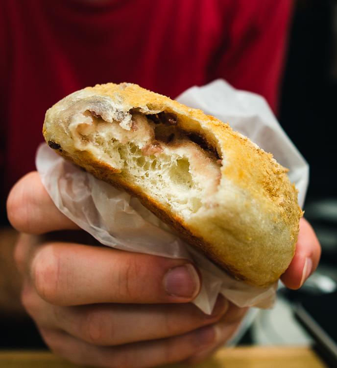 kinako & azuki bagel from bakery in Kyoto station