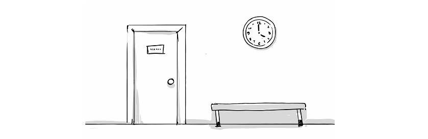 door bench and clock sketch