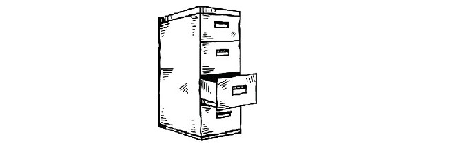 filing cabinet sketch