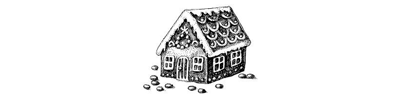 Gingerbread house illustration