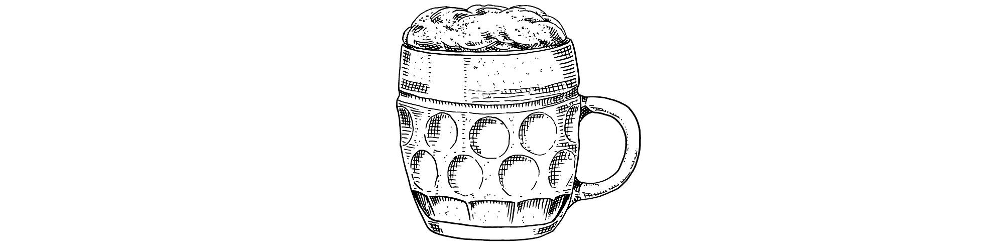 pint glass illustration