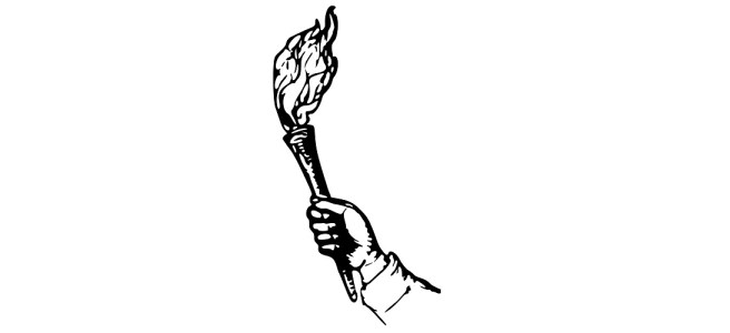 torch in hand illustration