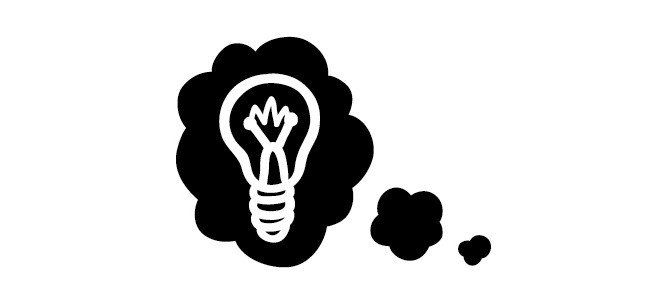 light bulb thought bubble illustration