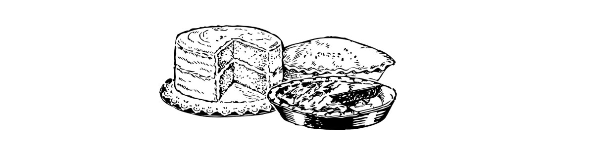 cake and pies illustration
