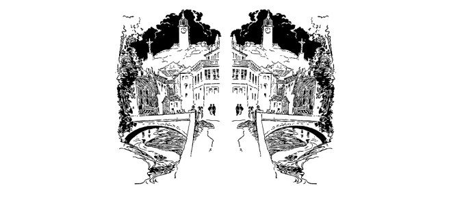 twin towns illustration