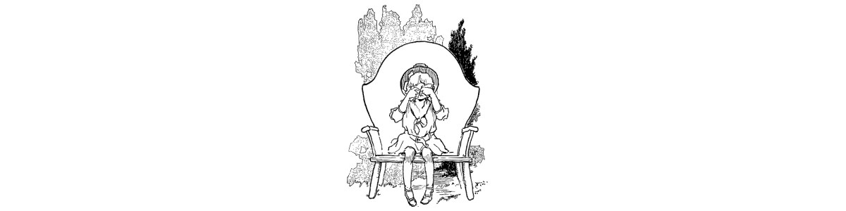 "Girl in chair illustration - ""I'm in a Trough - Whinge Part 2"" Blog"