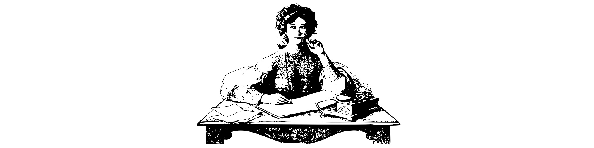 """Woman writing illustration - """"Passion for New Projects"""" Blog"""