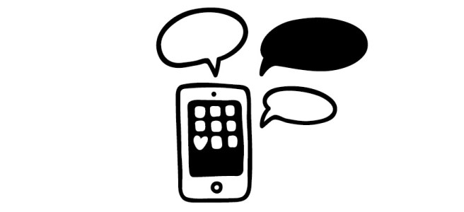 "Phone and speech bubbles illustration - ""This is Why I Suck at Social Media"" blog"