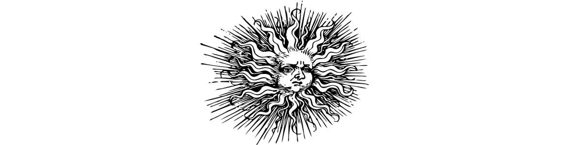 """Sun illustration - """"The Heat Wave"""" microfiction"""