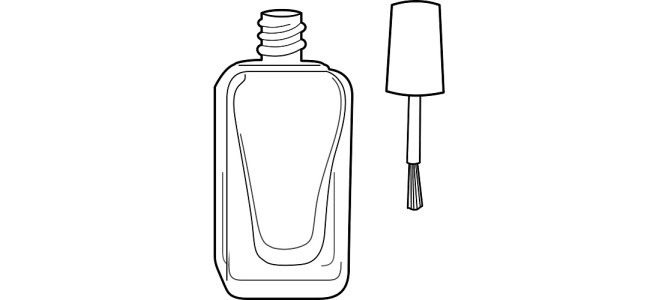 "Nail polish bottle illustration - ""The Nail Reader"" microfiction"