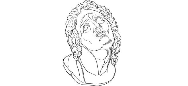 "Melting face illustration - ""Dunk"" flash fiction"
