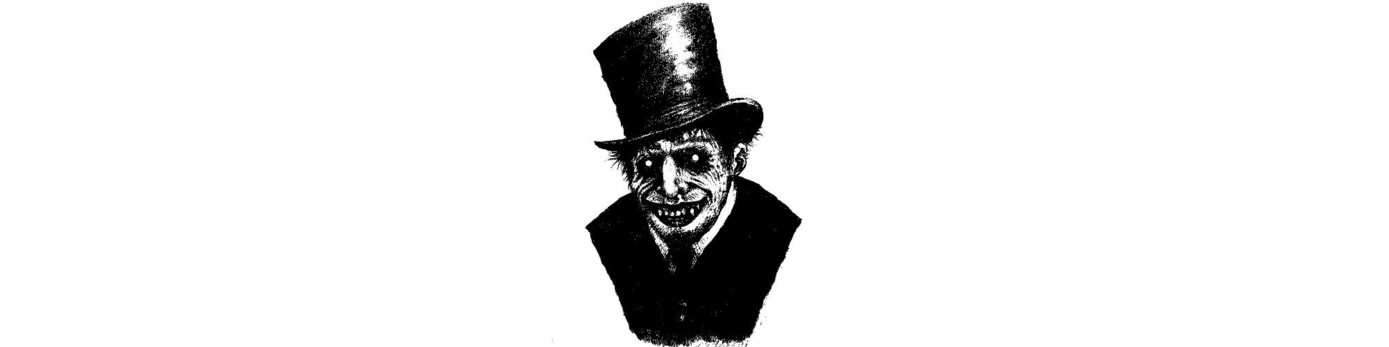 "Spooky man illustration - ""Prepare for Spooks"" microfiction"